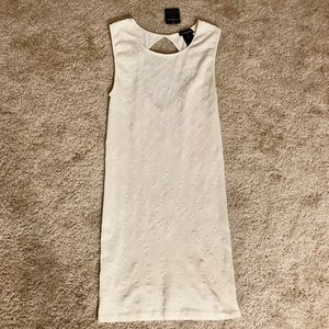 NWT Cream open Back Body-con Dress from Bebe